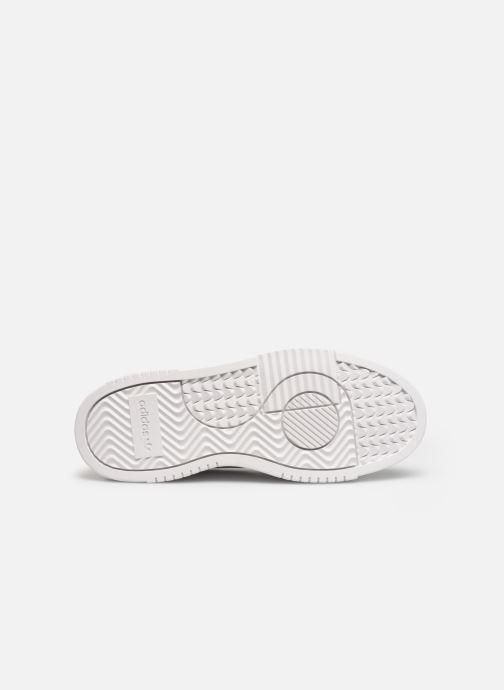 Baskets adidas originals Supercourt J Blanc vue haut