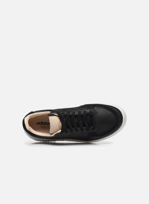 Trainers adidas originals Supercourt J Black view from the left