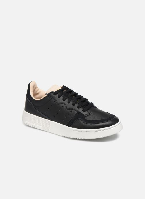 Trainers adidas originals Supercourt J Black detailed view/ Pair view