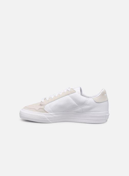Sneaker adidas originals Continental Vulc J weiß ansicht von vorne