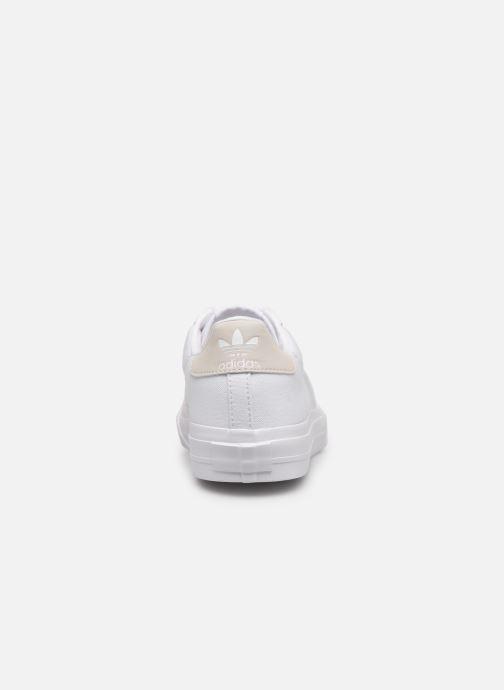 Baskets adidas originals Continental Vulc J Blanc vue droite