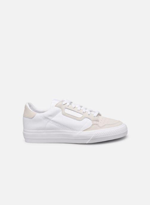 Baskets adidas originals Continental Vulc J Blanc vue derrière