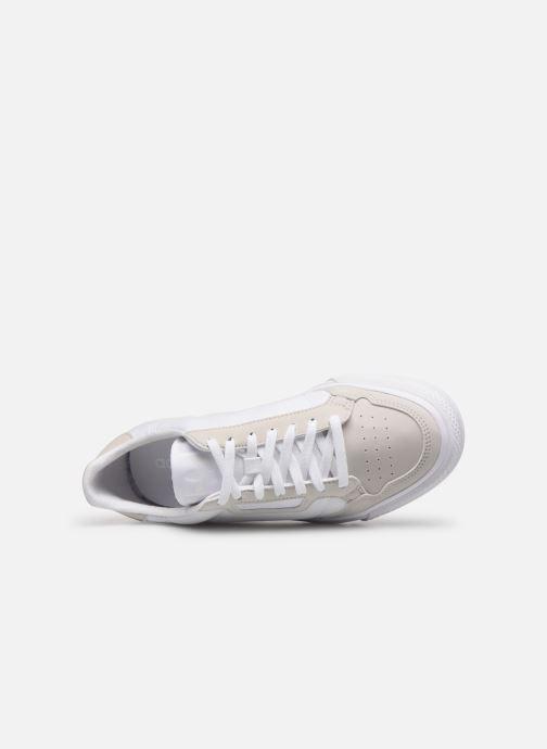 Sneaker adidas originals Continental Vulc J weiß ansicht von links