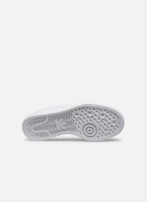 Baskets adidas originals Continental Vulc J Blanc vue haut