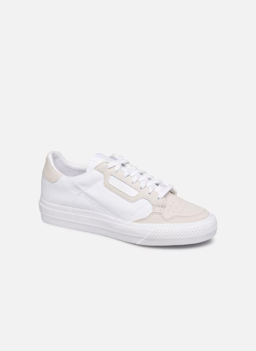 Baskets adidas originals Continental Vulc J Blanc vue détail/paire