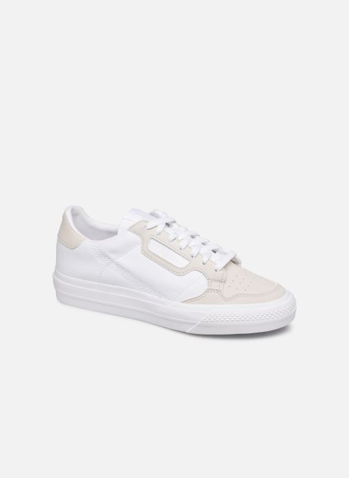 Baskets adidas originals Continental Vulc J Blanc vue détail/paire
