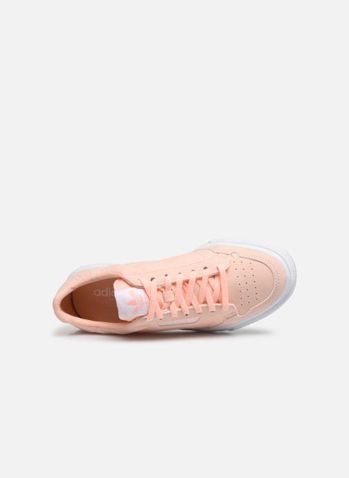 Baskets adidas originals Continental Vulc J Rose vue gauche