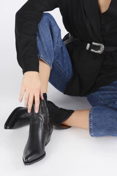 Bottines et boots Notabene Django Noir vue bas / vue portée sac