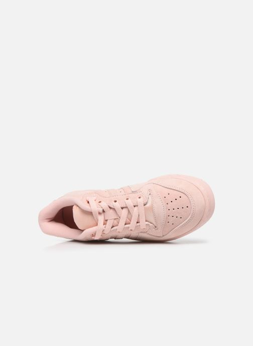 Trainers adidas originals Rivalry Low J Pink view from the left