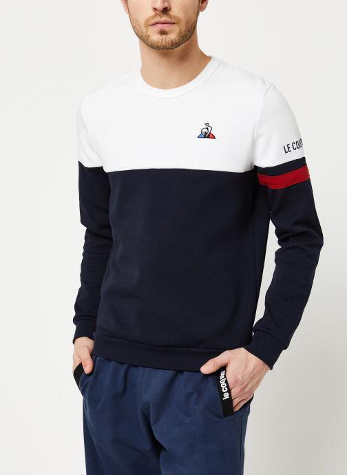 Vêtements Le Coq Sportif TRI Crew Sweat N°1 M Blanc vue droite