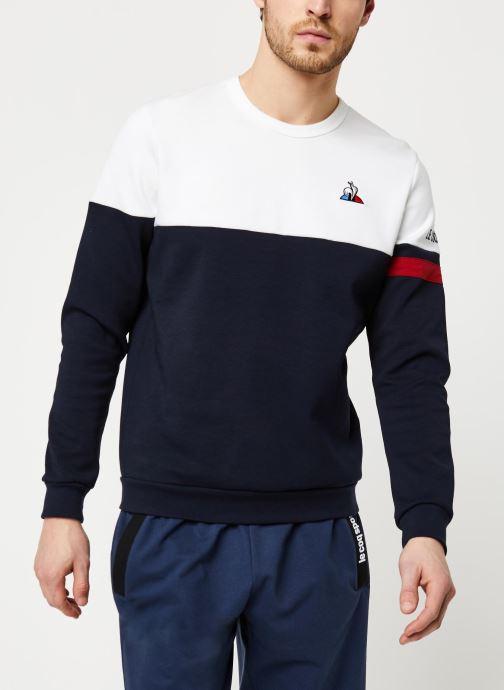 Vêtements Le Coq Sportif TRI Crew Sweat N°1 M Blanc vue détail/paire
