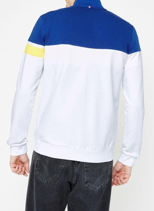 Vêtements Le Coq Sportif ESS SAISON FZ Sweat N°1 M Multicolore vue portées chaussures