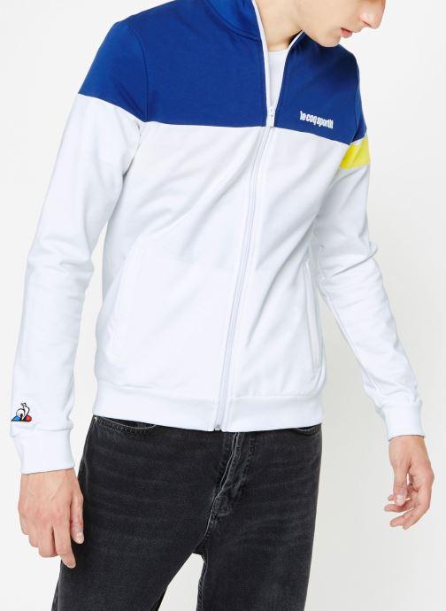 Vêtements Le Coq Sportif ESS SAISON FZ Sweat N°1 M Multicolore vue droite
