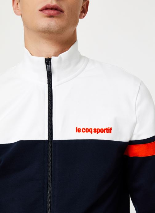 Vêtements Le Coq Sportif ESS SAISON FZ Sweat N°1 M Multicolore vue face