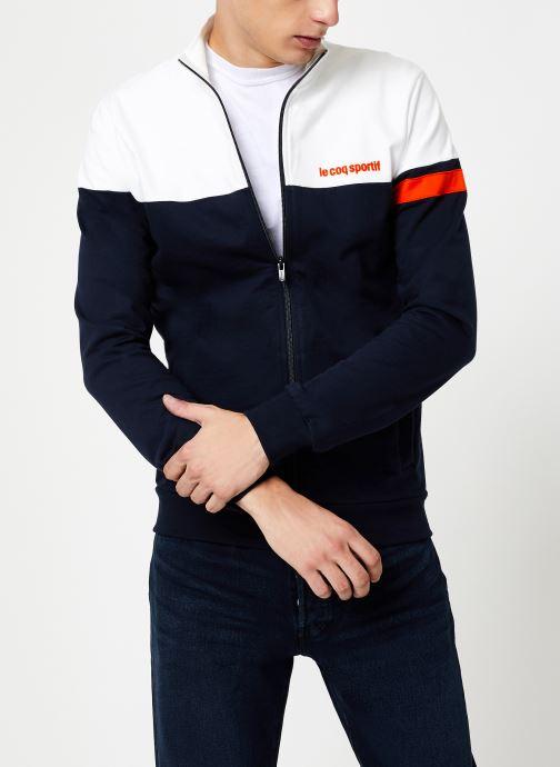 Vêtements Le Coq Sportif ESS SAISON FZ Sweat N°1 M Multicolore vue détail/paire
