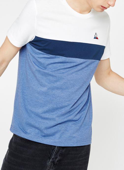 Vêtements Le Coq Sportif TRI SAISON Tee SS N°1 M Multicolore vue détail/paire