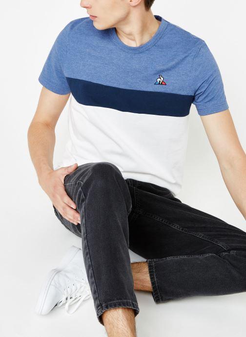 Vêtements Le Coq Sportif TRI SAISON Tee SS N°2 M Multicolore vue détail/paire