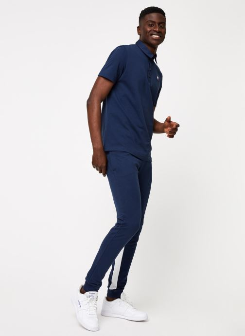 Vêtements Le Coq Sportif TRI SAISON Pant Slim N°1 M Bleu vue bas / vue portée sac
