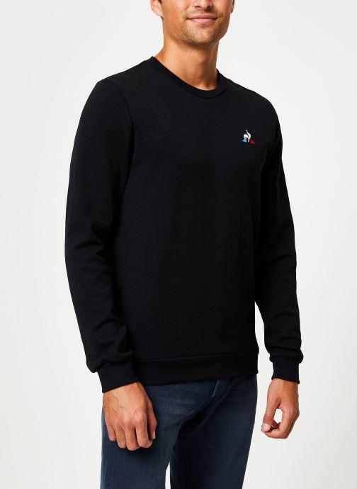 Vêtements Le Coq Sportif ESS Crew Sweat N°2 M Noir vue détail/paire
