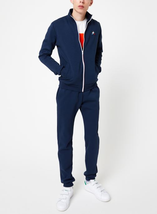 Vêtements Le Coq Sportif ESS FZ Sweat N°2 M Bleu vue bas / vue portée sac