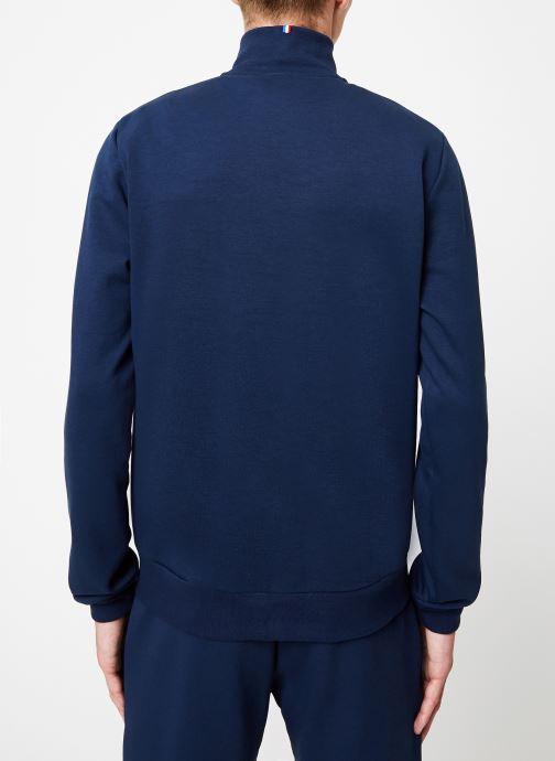 Vêtements Le Coq Sportif ESS FZ Sweat N°2 M Bleu vue portées chaussures