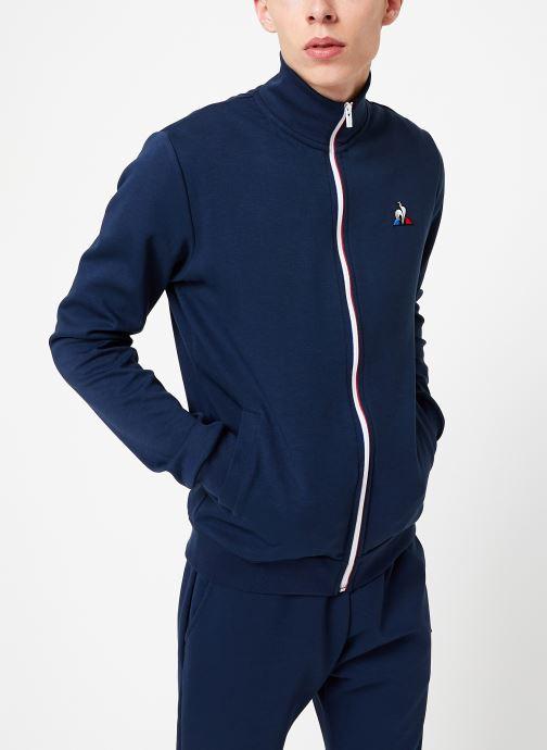Vêtements Le Coq Sportif ESS FZ Sweat N°2 M Bleu vue droite