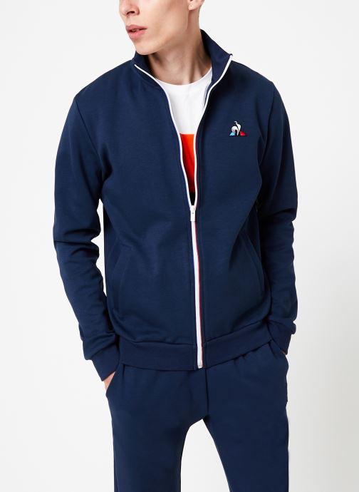 Vêtements Le Coq Sportif ESS FZ Sweat N°2 M Bleu vue détail/paire