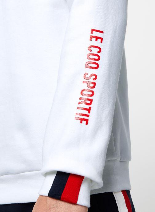 Vêtements Le Coq Sportif TRI Crew Sweat N°3 M Blanc vue face