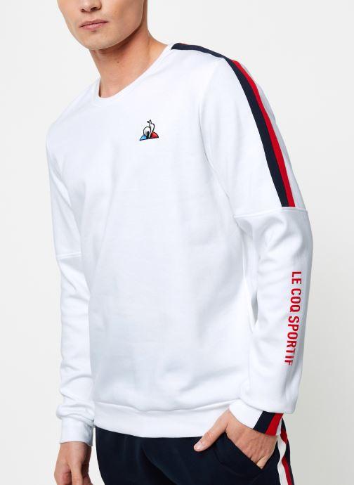 Vêtements Le Coq Sportif TRI Crew Sweat N°3 M Blanc vue droite