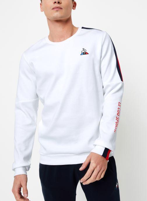Vêtements Le Coq Sportif TRI Crew Sweat N°3 M Blanc vue détail/paire