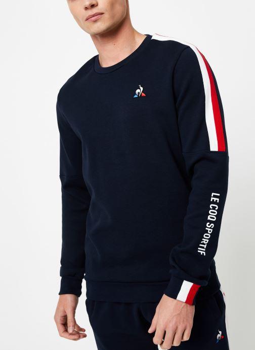 Vêtements Le Coq Sportif TRI Crew Sweat N°3 M Bleu vue détail/paire