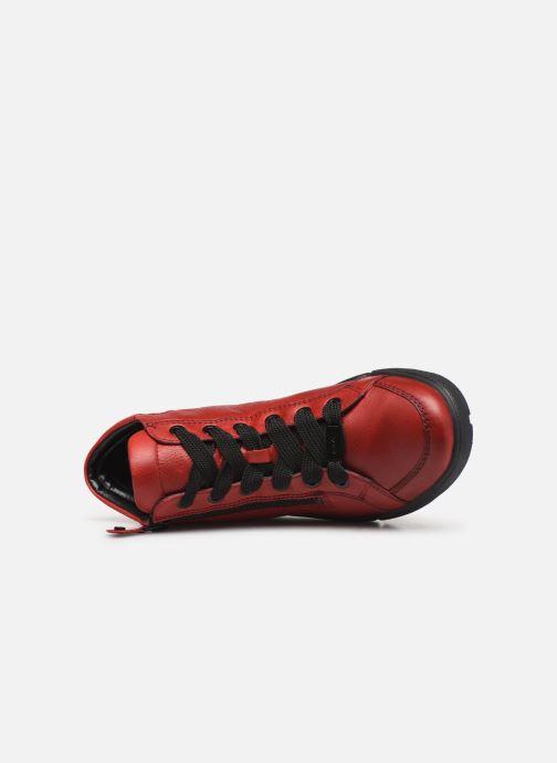 Sneaker Ara Rom High Soft 14435 rot ansicht von links