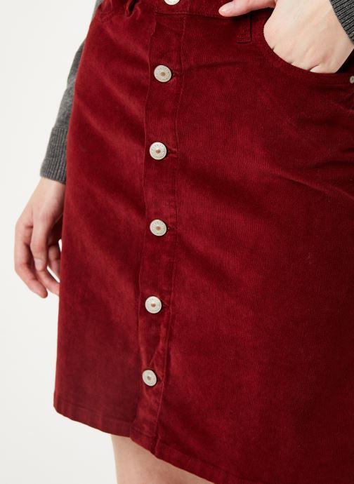 Vêtements Kanopé JUPE CLOTHILDE VELOURS Bordeaux vue face