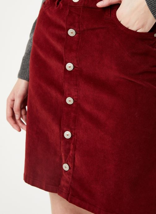 Kleding Kanopé JUPE CLOTHILDE VELOURS Bordeaux voorkant