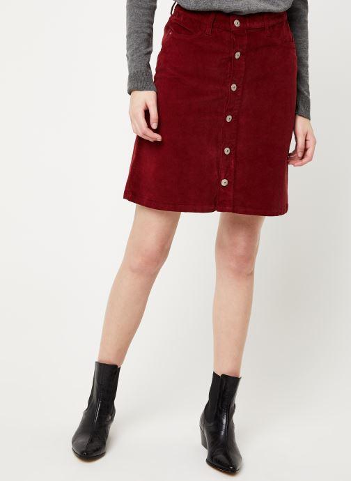 Vêtements Kanopé JUPE CLOTHILDE VELOURS Bordeaux vue détail/paire