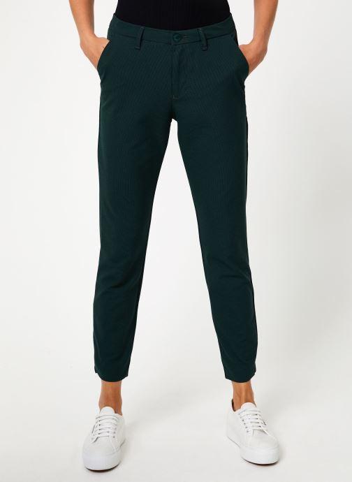 Vêtements Kanopé PANTALON DIANE PIED DE POULE Vert vue détail/paire