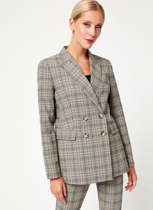 Vêtements Kanopé VESTE VALENTINE PRINCE DE GALLES Beige vue détail/paire