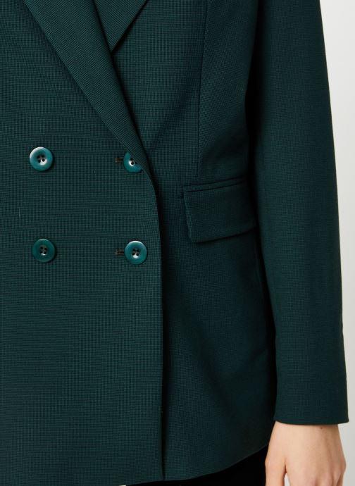 Vêtements Kanopé VESTE VALENTINE PIED DE POULE Vert vue face