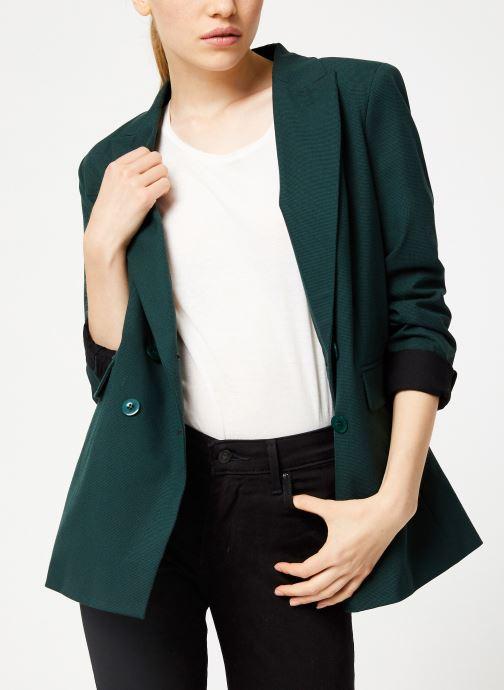 Vêtements Kanopé VESTE VALENTINE PIED DE POULE Vert vue droite