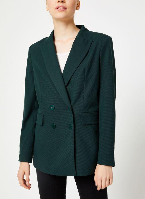 Vêtements Kanopé VESTE VALENTINE PIED DE POULE Vert vue détail/paire