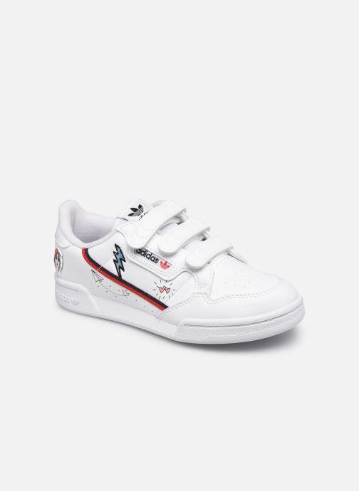 Baskets adidas originals Continental 80 Cf C Blanc vue détail/paire