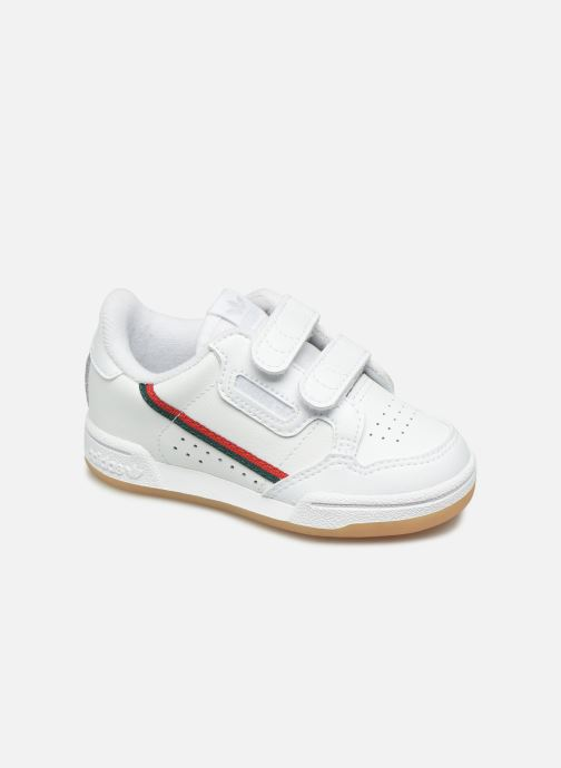Baskets adidas originals Continental 80 Cf I Blanc vue détail/paire