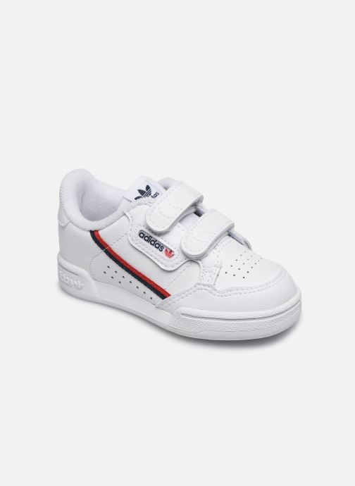 Baskets adidas originals Continental 80 Cf I Blanc vue détail/paire