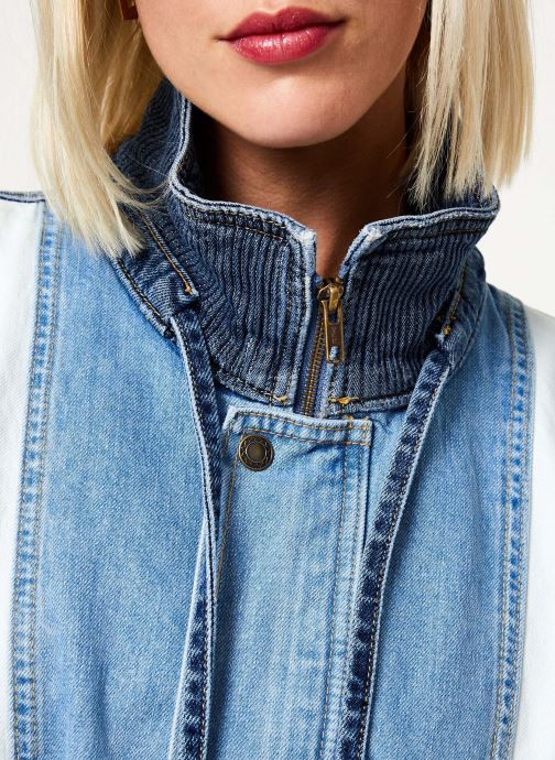 Vêtements Free People PANEL DENIM BOMBER Bleu vue face