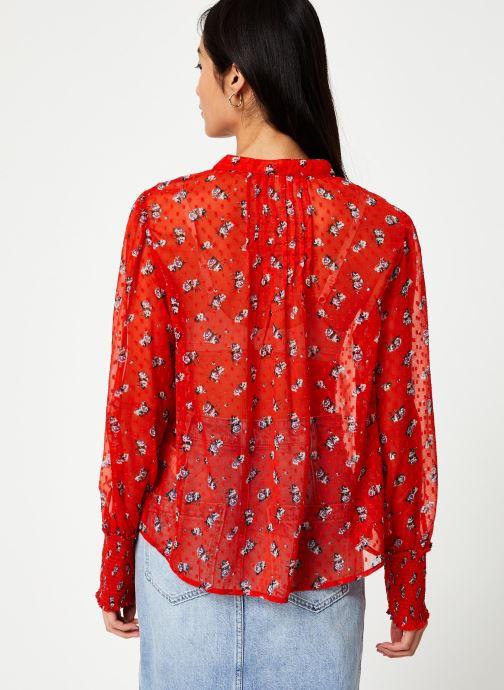 Vêtements Free People FLOWER IN DECEMBER BLOUSE Rouge vue portées chaussures