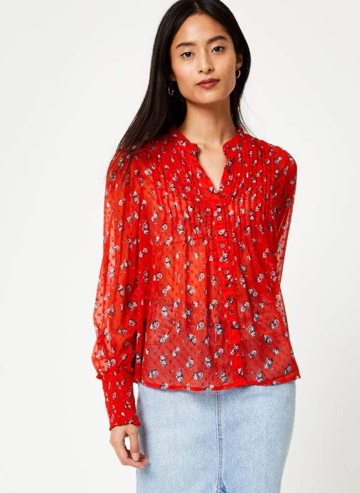 Vêtements Free People FLOWER IN DECEMBER BLOUSE Rouge vue détail/paire