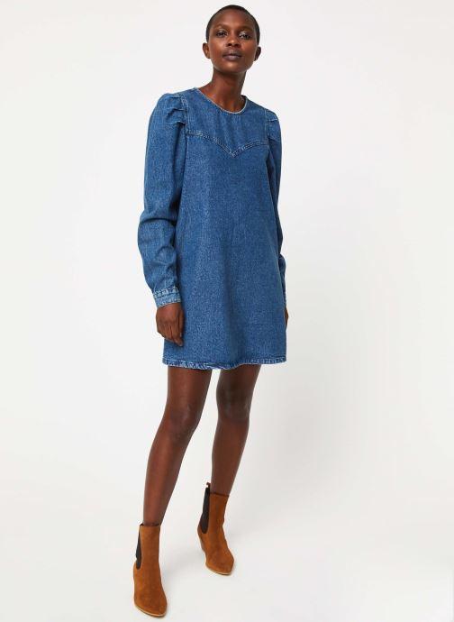 Vêtements Free People SELF CONTROL DENIM MINI Bleu vue bas / vue portée sac