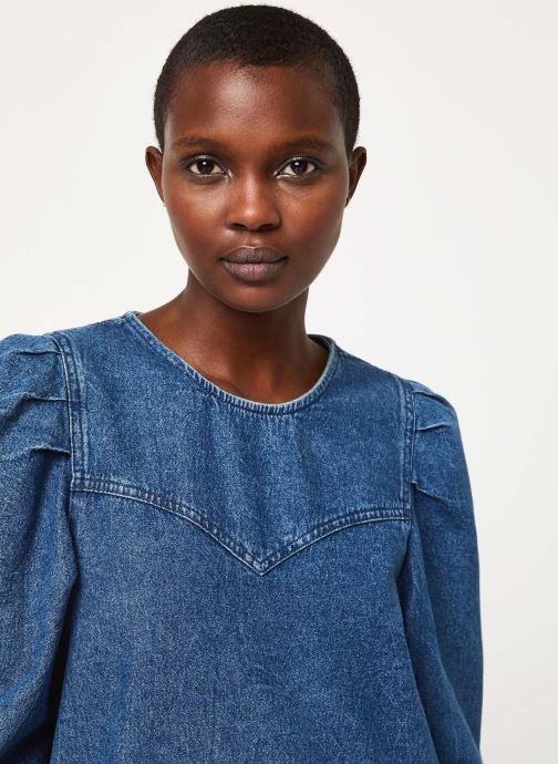 Vêtements Free People SELF CONTROL DENIM MINI Bleu vue face