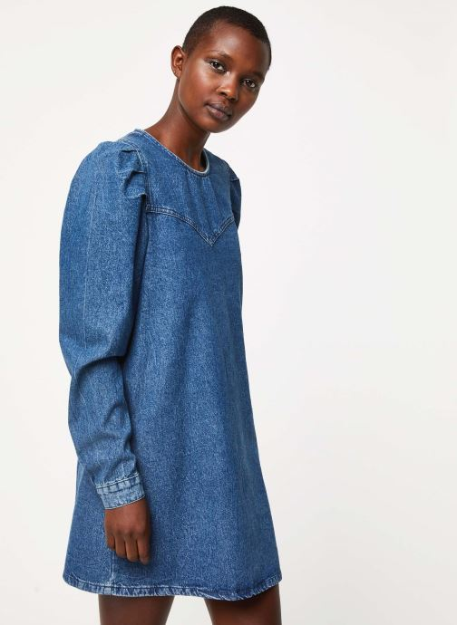 Vêtements Free People SELF CONTROL DENIM MINI Bleu vue droite