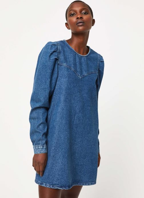 Vêtements Free People SELF CONTROL DENIM MINI Bleu vue détail/paire